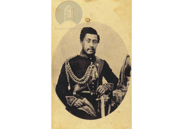 [Photo: Portrait of King William Charles Lunalilo in uniform, seated; Hawaiʻi. Photo by H. L. Chase, Bishop Museum Archives. SP 41665]